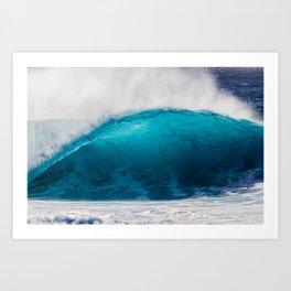 Blue Glow Art Print