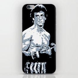 Sylvester Stallone as Rocky Balboa, portrait pop iPhone Skin
