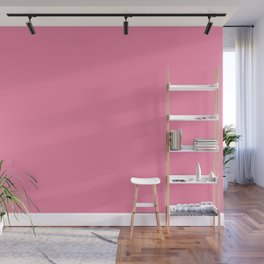 From The Crayon Box – Inspired by Tickle Me Pink - Bright Pink Solid Color Wall Mural