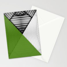 Black White and Grassy Green Stationery Cards