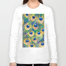 Peacock Freathers Long Sleeve T-shirt
