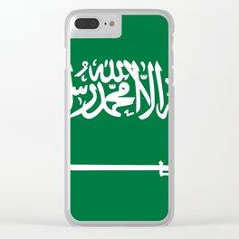 Saudi Arabia Flag Clear iPhone Case
