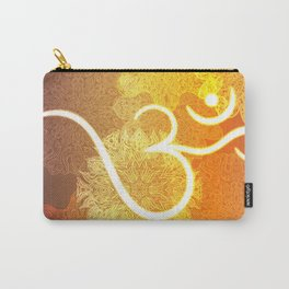 Indian ornament pattern with ohm symbol Carry-All Pouch