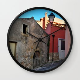 Sicilian Medieval Village (The Godfather/ Francis Ford Coppola/1971) Wall Clock