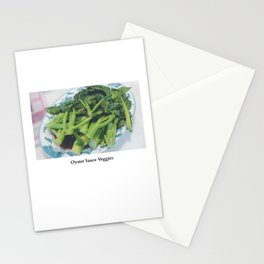 Oyster Sauce Veggies Stationery Cards