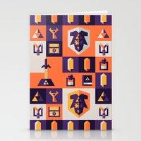 the legend of zelda Stationery Cards featuring Legend of Zelda Items by Ann Van Haeken