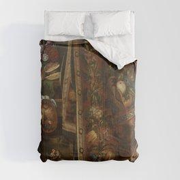 Cornelius Norbertus Gijsbrechts - Trompe l'oeil. A Cabinet in the Artist's Studio.jpg Comforters