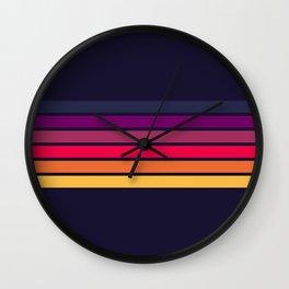 Darida - Classic 70s Retro Stripes Wall Clock