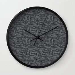 Interweaving Lines Wall Clock