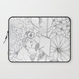 Open: Frida at her Easel Laptop Sleeve
