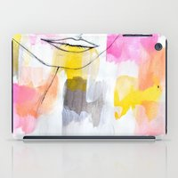 lips iPad Cases featuring Lips by Alexandra Str