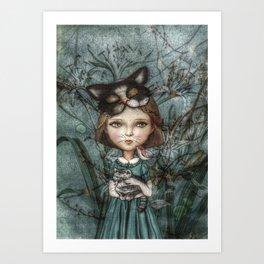Cecile *Cattitude* Art Print