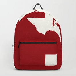 Texas is Home - White on Red Backpack