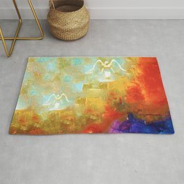 Angels Among Us - Emotive Spiritual Healing Art Rug