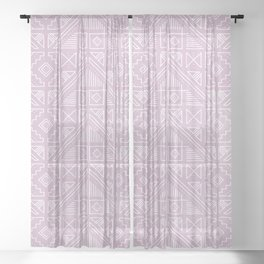 Stamped Geometric - Lilac Sheer Curtain
