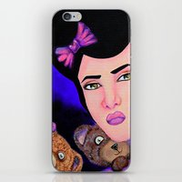 emily rickard iPhone & iPod Skins featuring Emily by Amor Designs