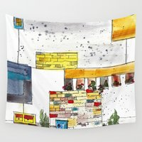 urban Wall Tapestries featuring Urban by Tonya Doughty