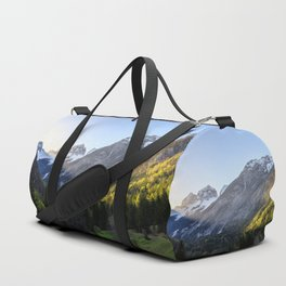 Sunset at Trenta valley, Slovenia Duffle Bag