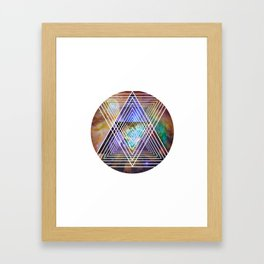Cosmogeometry Framed Art Print