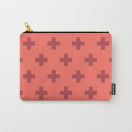 Swiss Cross Retro Red Carry-All Pouch