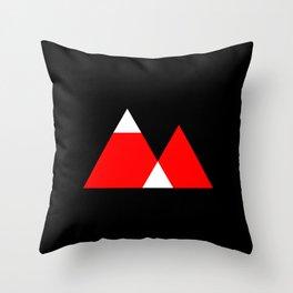 Mountain Triangle Snow Nerd Hipster Throw Pillow
