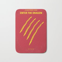 No026 My Enter the dragon minimal movie poster Bath Mat