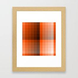Monochromatic Orange Framed Art Print
