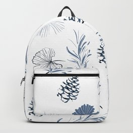 Blue White Ginkgos & Pines Backpack