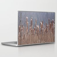 furry Laptop & iPad Skins featuring Furry Cattails by DanByTheSea