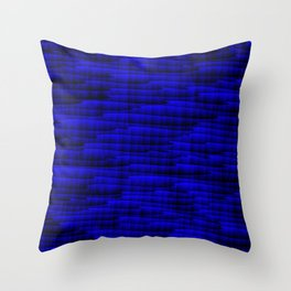 Square cross blue lines on a dark tree. Throw Pillow