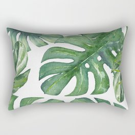 Monstera Leaves Rectangular Pillow