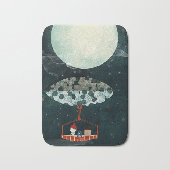 i see the moon too Bath Mat