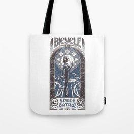 Bicycle Space Patrol Tote Bag