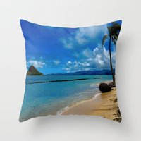 hawaiian Throw Pillows featuring Hawaiian Dreams by Upperleft Studios