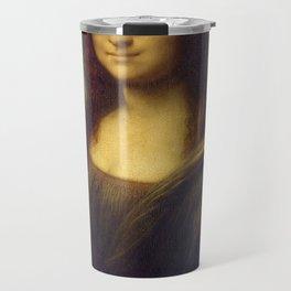 Hipster Mona Lisa in her Hipster Glasses Travel Mug