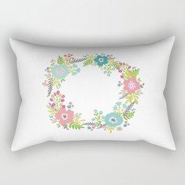 Floral fresh spring wreath Rectangular Pillow