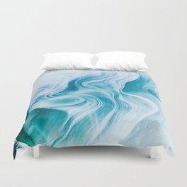 Marble sandstone - oceanic Duvet Cover