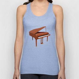 Grand Piano with Wood Finish Unisex Tank Top