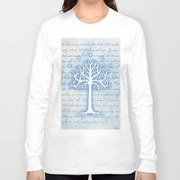 gondor Long Sleeve T-shirts featuring Tree of Gondor by JadeJonesArt