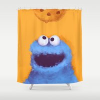 cookies Shower Curtains featuring Cookies  by Lime