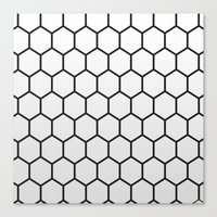 hexagon Canvas Prints featuring Hexagon by Thomas Official