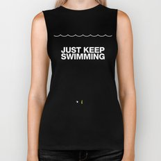 Just Keep Swimming Biker Tank