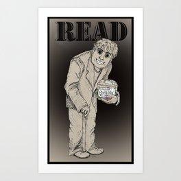 Read The Labels, Fritz Art Print