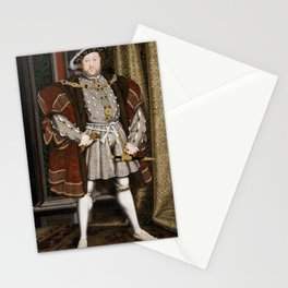Portrait of Henry VIII - After Hans Holbien the Younger Stationery Cards