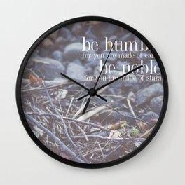 noble + humble. Wall Clock