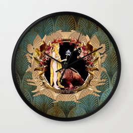 The Bear And The Maiden II Wall Clock