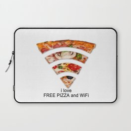 FREE PIZZA AND Wi-Fi Laptop Sleeve