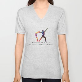 Ballet Quote When Movement Becomes Ecstatic Quote Unisex V-Neck