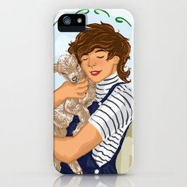 Louis holding a baby goat iPhone Case