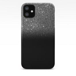 Black & Silver Glitter Ombre iPhone Case